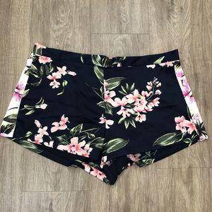 Victoria Secret Navy Blue Floral Shorts